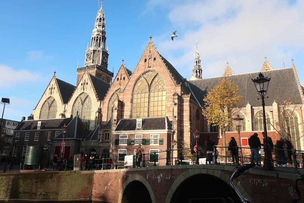Red Light District Old Church Amsterdam