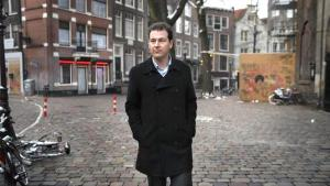 Lodewijk Asscher in the middle of the Red Light District in 2012