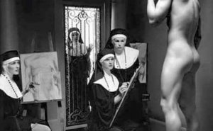 Whores of Yore painting nuns