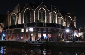 Amsterdam Red Light District Audio Tour Old Church at night