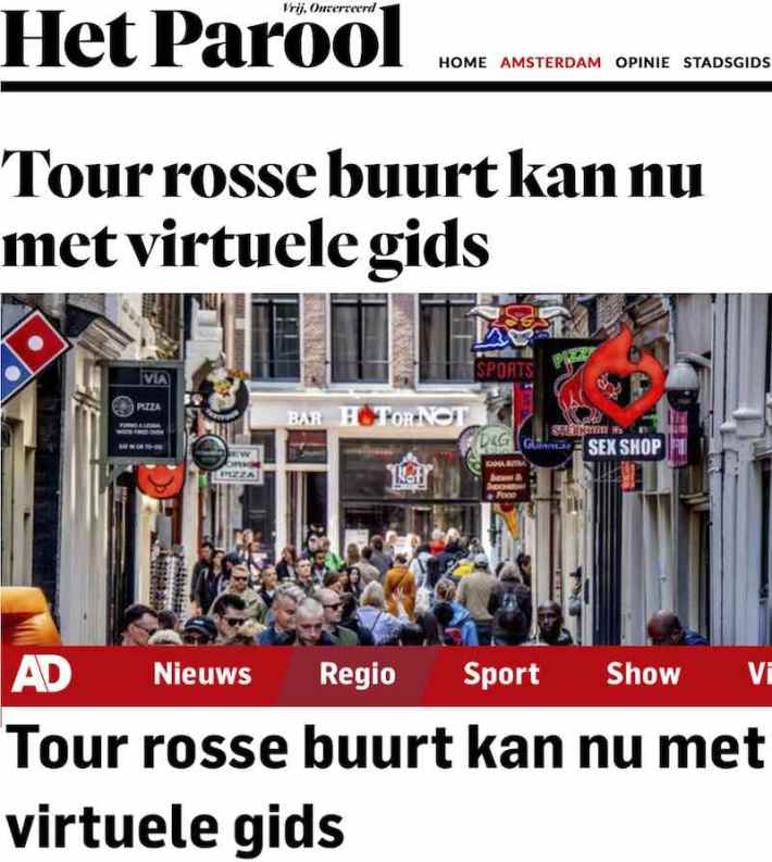 Amsterdam Red Light District Audio Tour Dutch media coverage