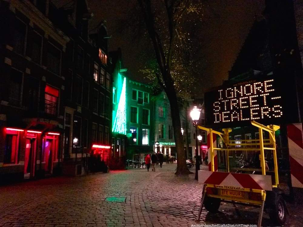 Street Dealers Amsterdam Warning Sign