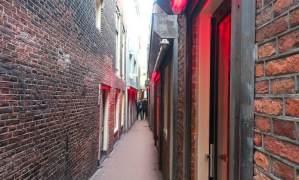 Amsterdam tour App window brothels