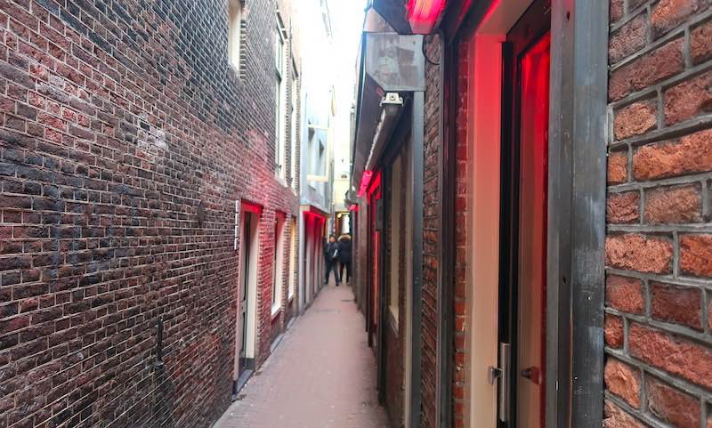 Amsterdam tour App Window Brothels Red Light District