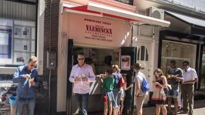 Best fries in Amsterdam at Vleminckx