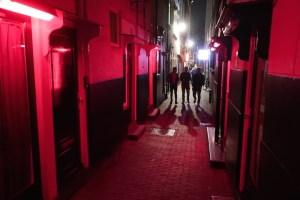 Windows Amsterdam's Red Light District