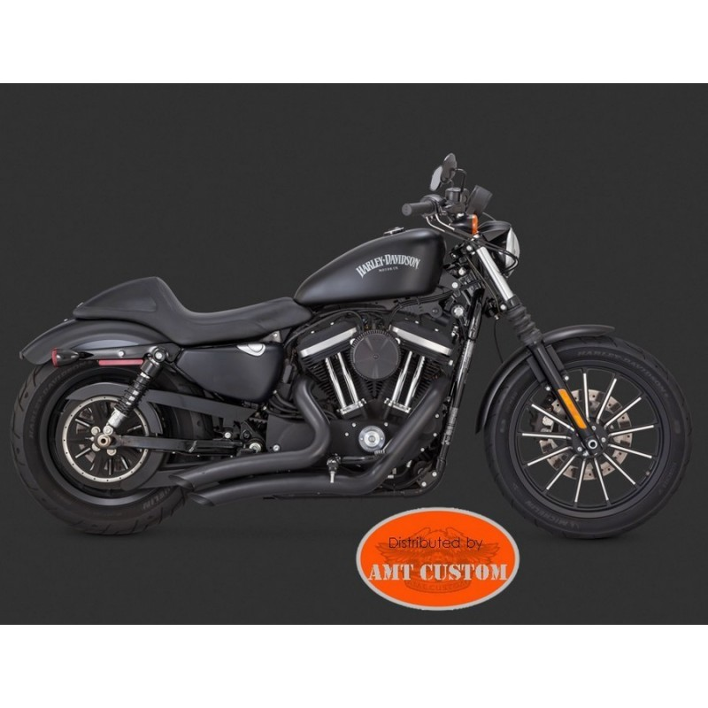 exhaust and muffler ref 12 18001657 sportster big radius black exhaust for harley xl833 xl1200 custom iron forty eight seventy two super
