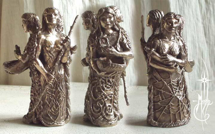 Warrior Healer Crone statue