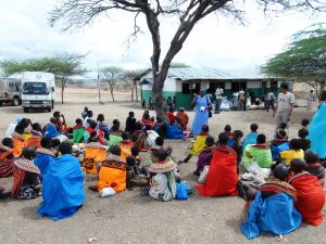 community meeting in Samburu