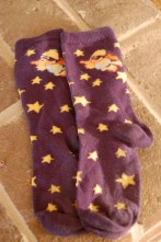 Stars and ducks. I loved these socks. That's probably why the heels are about worn through.