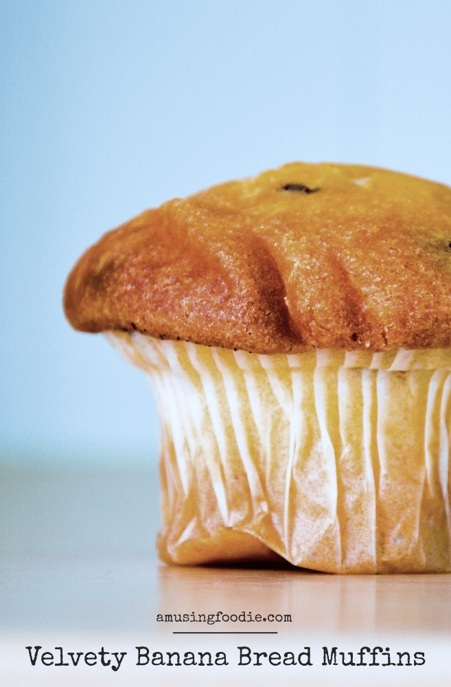 Velvety Banana Bread Muffins — perfect grab 'n go breakfast!
