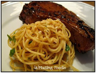 Peanut Noodles with Asian Pork Chops