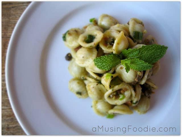 Orecchiete with Parmesan and Pistachios