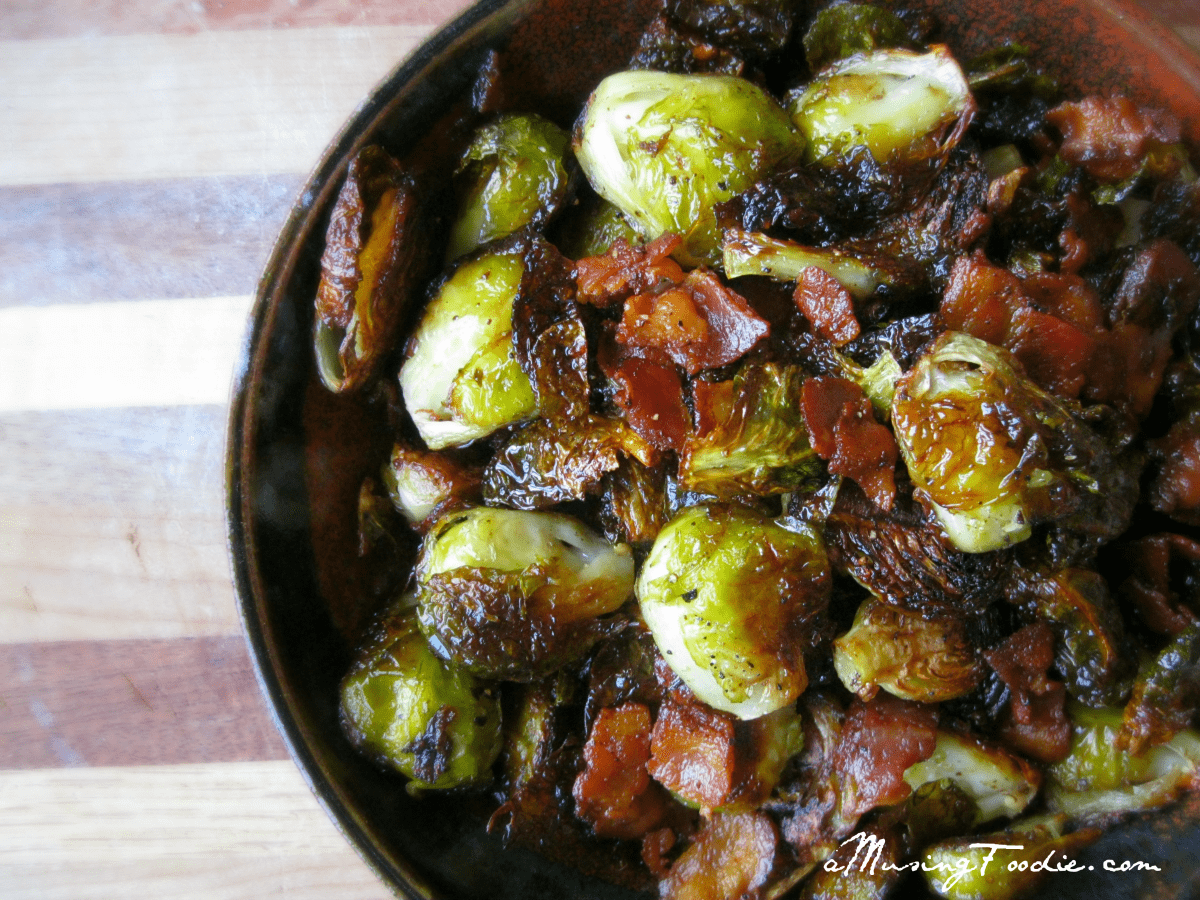 Roasted Brussels Sprouts with Bacon | (a)Musing Foodie