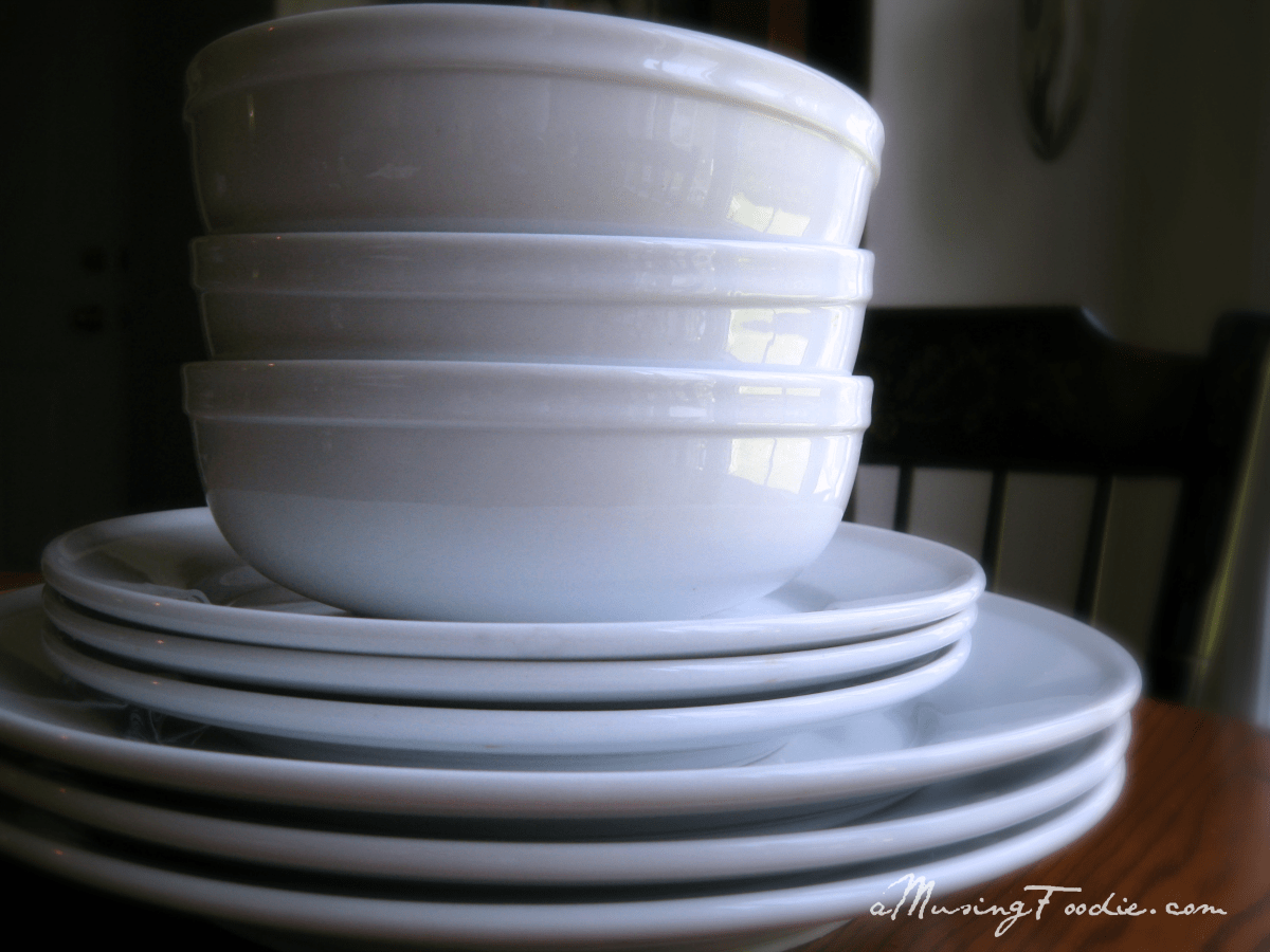White Dishes A Musing Foodie