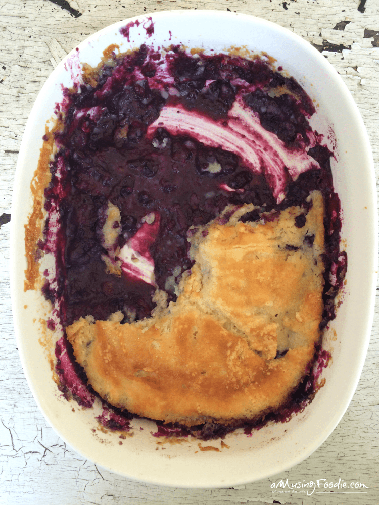 The best blueberry cobbler EVER, made with Maryland blueberries!
