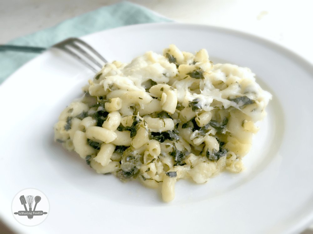 Spinach dip pasta has all the creamy, garlic-y, Parmesan goodness you love about a spinach dip appetizer!