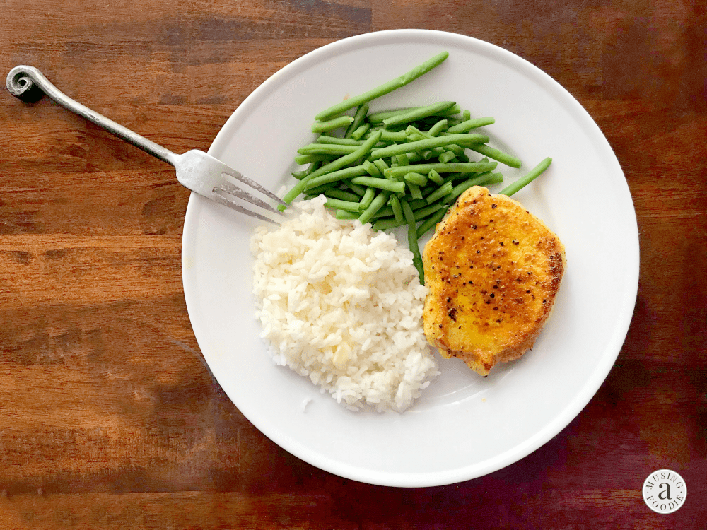 These juicy seared turmeric pork chops take about fifteen minutes to make from start to finish, which means they can help you can easily get a homemade dinner on the table in under thirty minutes any night of the week!