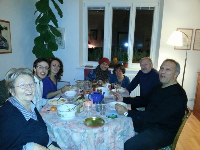 Austrian, Iranian and Malaysian are under one roof, sharing food and love.   May I Call This Globe A HOME? 20131012 192601