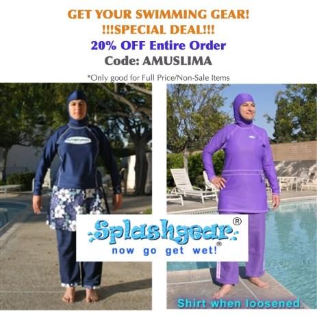 SplashGear 20% Discount Code Muslim swimwear 20% Discount on Muslim Swimwear SplashGearDiscount