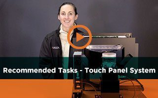 Our Recommended Tasks for the Touch Panel System