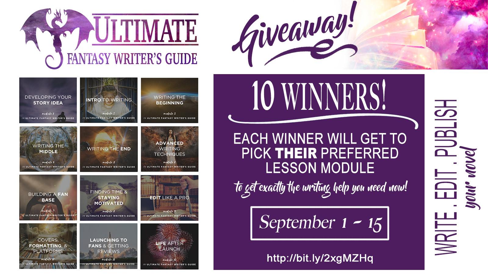 Enter the Ultimate Fantasy Writer's Guide Mega Giveaway!