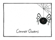 This black spider stationery will compliment your decorations perfectly!