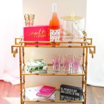 Our Apartment Summer Bar Cart I Believe In Pink