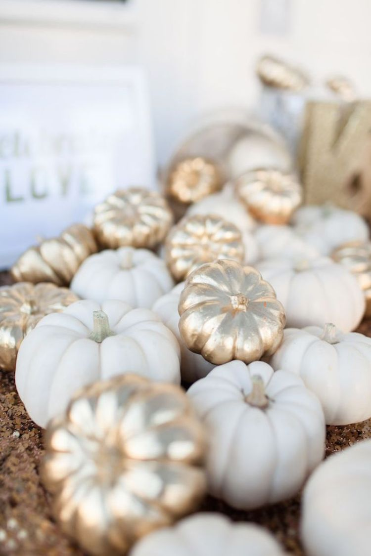 Gold & White Pumpkins - amybethcampbell.com