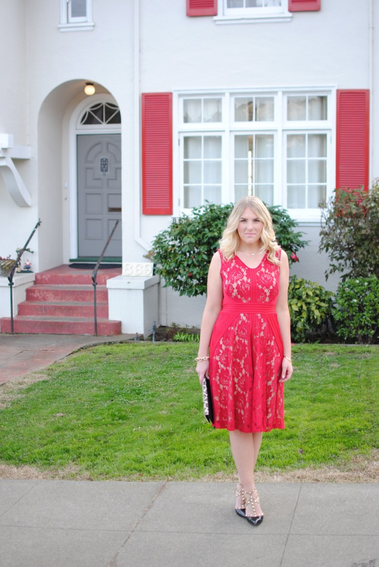 Little Red Lace Dress
