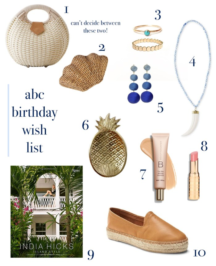 ABC birthday wish list | amybethcampbell.com