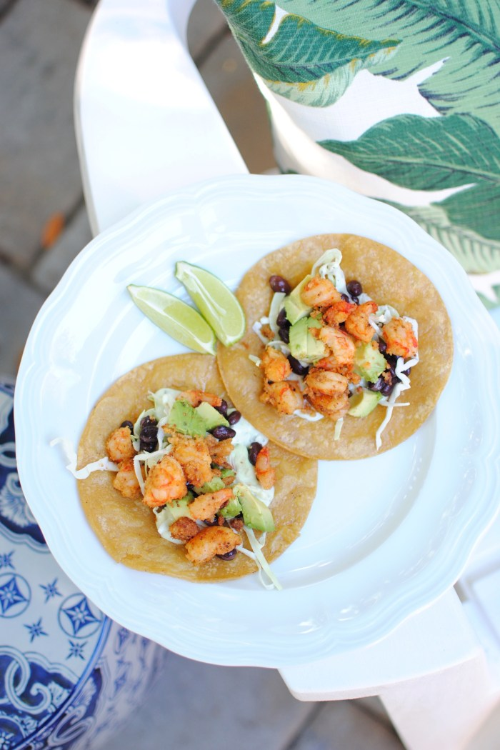 Coconut, Chili & Lime Shrimp Tacos