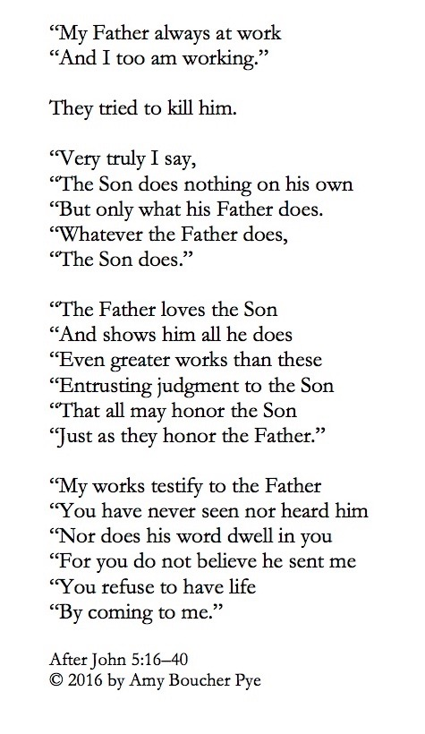 Lenten Poems Jesus And The Father 14 Amy Boucher Pye