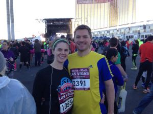 Me with the husband pre-race.