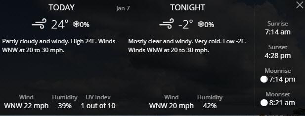 Wednesday. No no no no!