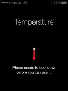 After my cold run in NB, my iPhone gave me THIS error message. Can I smash it, please?