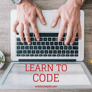 Learn To Code amybucherphd.com