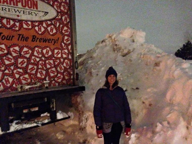 Me and my snowbank.