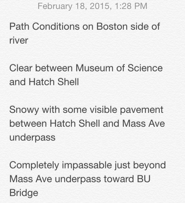 Doing my civic duty by reporting on river path conditions.