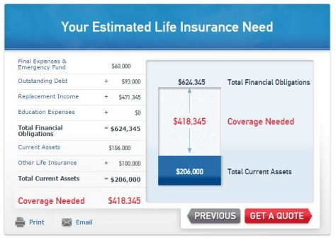 The tool allows you to change inputs and see how it affects your recommended insurance plan and rates