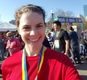 Terrible post-5k selfie, with medal.