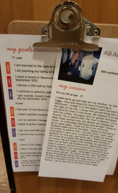 Alli's vision and goals.