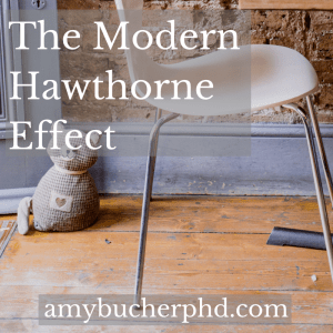 The Modern Hawthorne Effect