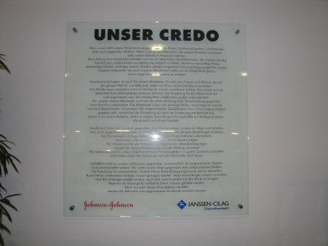 In the Janssen-Cilag office in Dusseldorf, Germany