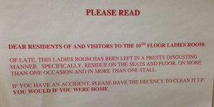 Someone is making some assumptions about how their colleagues maintain their homes.