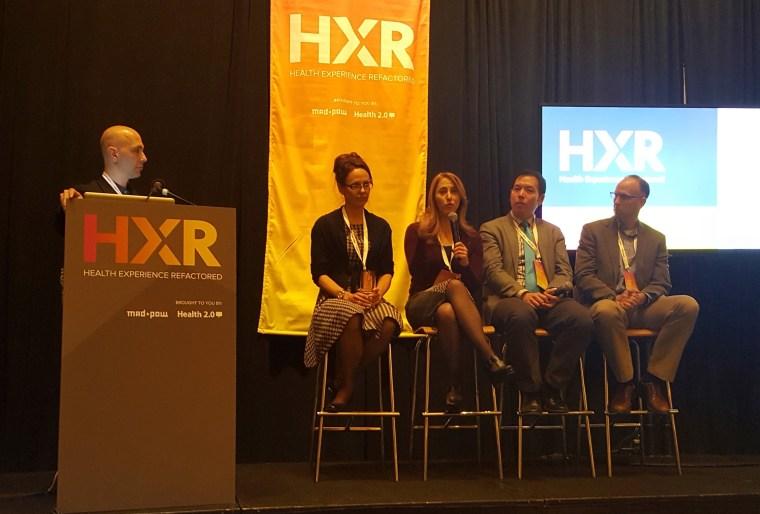Panelists from left to right: Dustin DiTommaso, Dr. Sherry Pagoto, Geri Lynn Baumblatt, Virgil Wong, and David Hoke