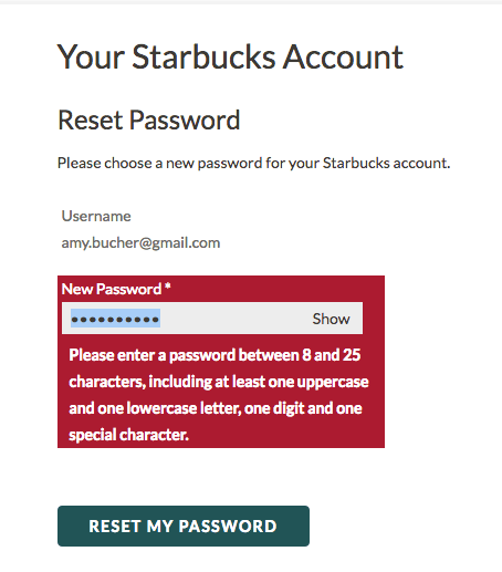 That's a lot of password requirements.