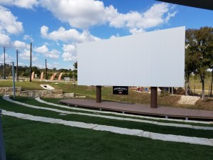 The outdoor cinema where concerts and movie screenings are held