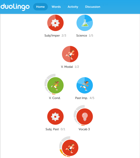 The Duolingo skill tree sequences lessons so they build on one another toward a clearly defined goal state.