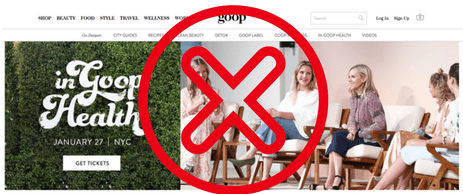 Goop's health conference gets an A+ for the celebrity factor, F for the scientific credibility.